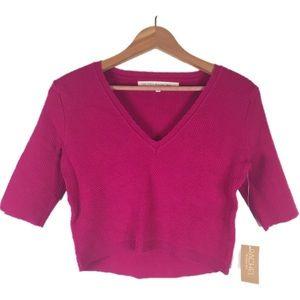 Rachel Roy Pink Knit Crop Top